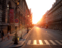 Late afternoon on the street of Paris.